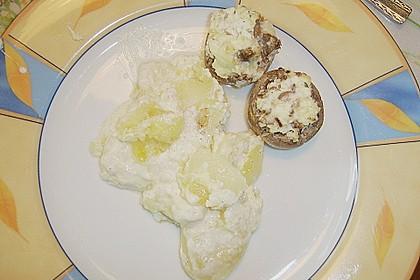 Champignons an Frischkäse 1