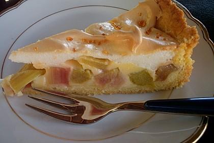 Rhabarberkuchen mit Baiser 5