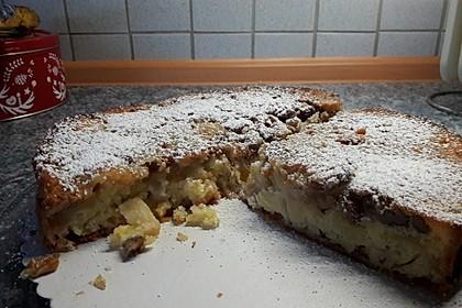Gestürzter Walnuss - Apfelkuchen 8