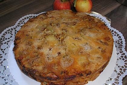 Gestürzter Walnuss - Apfelkuchen 7