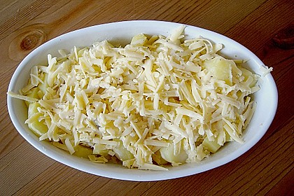 Kartoffelgratin mit Birnen 2