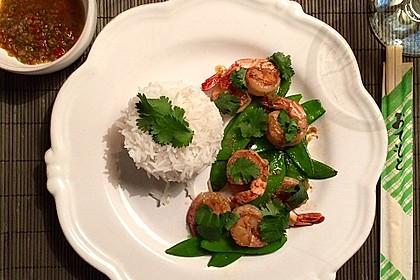 Thai - Garnelen mit Limetten - Knoblauch - Chili - Koriander - Vinaigrette 1