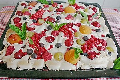 Bunter Sommerkuchen *Obstgarten im Schnee*