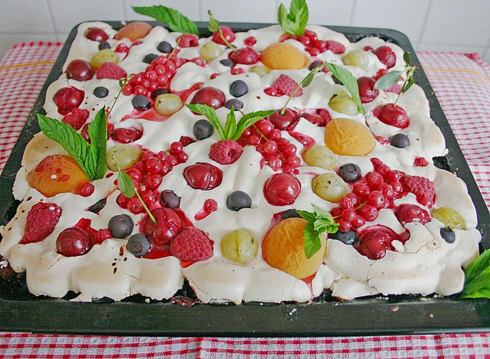 Bunter Sommerkuchen Obstgarten Im Schnee Von Bembelchen Chefkoch De