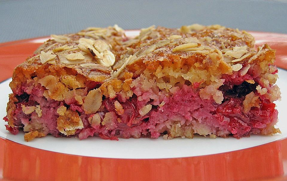 Sauerkirsch Haferflocken Kuchen Von Eicki Chefkoch De