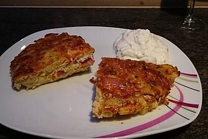 Kartoffel - Tortilla mit Salami