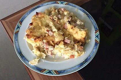 Kasseler - Auflauf mit Sauerkraut und Nudeln 3