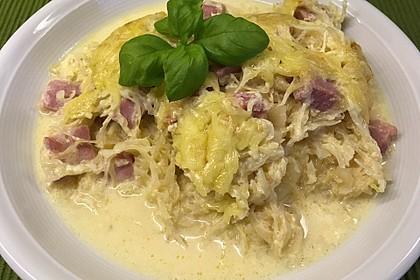 Kasseler - Auflauf mit Sauerkraut und Nudeln 2