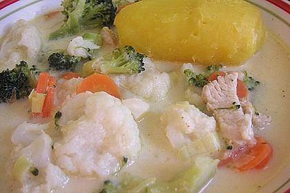 Bunte Geflügel-Käsesuppe 5