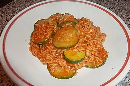 Griechischer  Zucchinieintopf  mit Reis