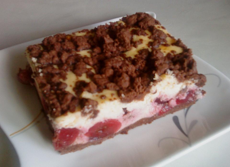 Kirsch Schoko Streusel Kuchen Von Luckys Home Chefkoch De