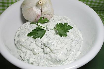 Knoblauch - Kräuter - Soße (Bild)