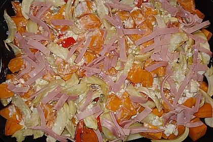 Süßkartoffel - Kartoffel - Fenchel - Auflauf 21