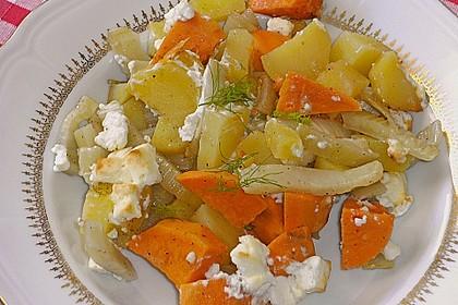 Süßkartoffel - Kartoffel - Fenchel - Auflauf 2