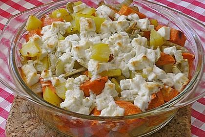 Süßkartoffel - Kartoffel - Fenchel - Auflauf 5