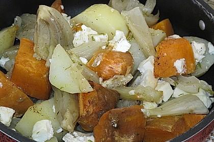 Süßkartoffel - Kartoffel - Fenchel - Auflauf 4