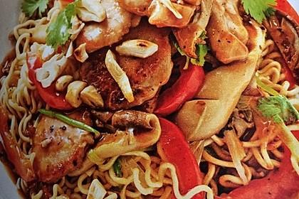 Schweinefilet chinesisch mit Gemüse und Eiernudeln 3