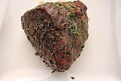 Mariniertes Steak mit Grillkartoffel und Gemüsespieß 4