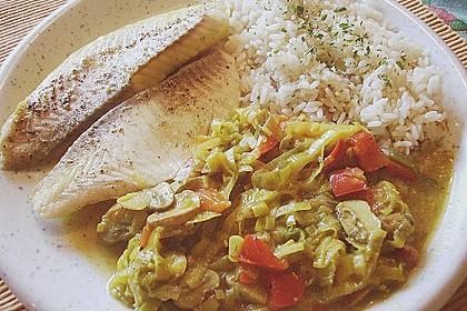 Rotbarsch mit Currygemüse 6