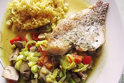 Rotbarsch mit Currygemüse 2