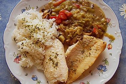 Rotbarsch mit Currygemüse