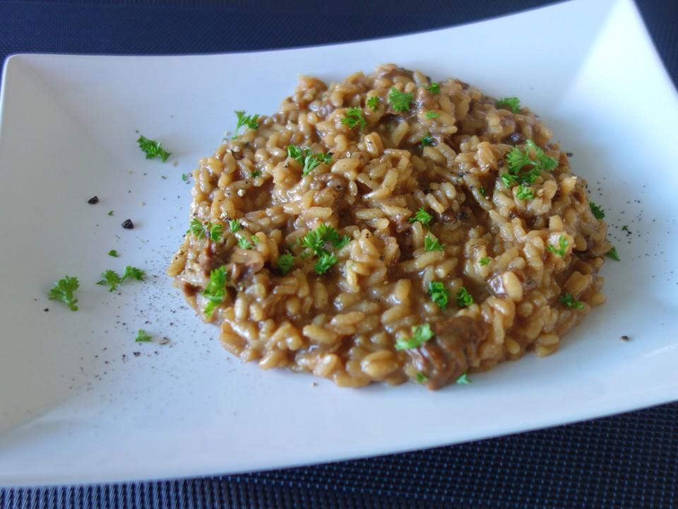 steinpilz risotto mit frischen steinpilzen