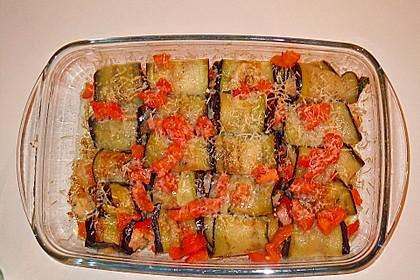 Auberginenröllchen mit würziger Reisfüllung 6