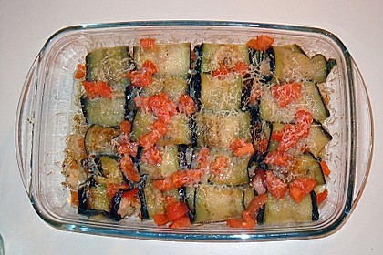 Auberginenröllchen mit würziger Reisfüllung 2