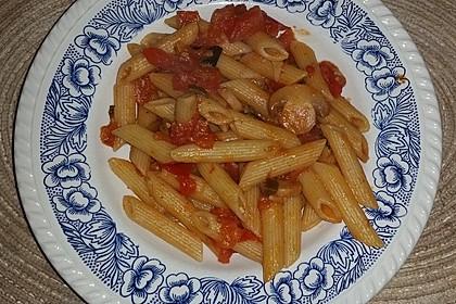 Knoblauch-Spaghetti mit Lauch und Tomate 7