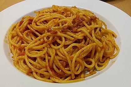 Knoblauch-Spaghetti mit Lauch und Tomate 20