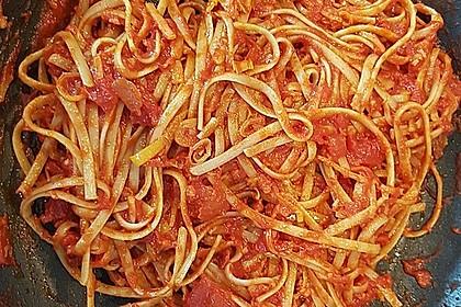 Knoblauch-Spaghetti mit Lauch und Tomate 21