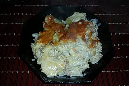 Kohlrabi-Kartoffel-Hackfleisch-Gratin (Bild)