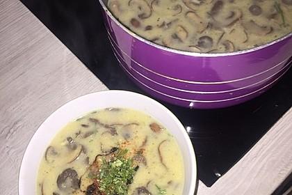 Champignon-Creme-Suppe 11