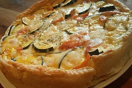 Zucchini - Quiche mit Räucherlachs 6