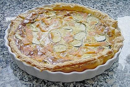 Zucchini - Quiche mit Räucherlachs 11