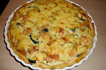 Zucchini - Quiche mit Räucherlachs 4