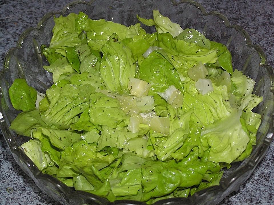 Grüner Salat Mit Zitrone