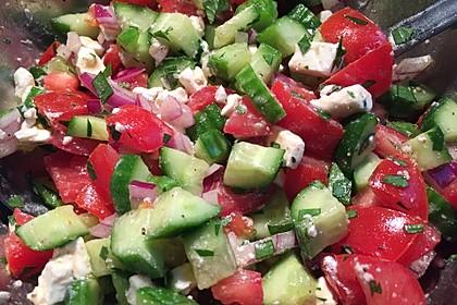 Gurken, Tomaten, Feta Salat 19
