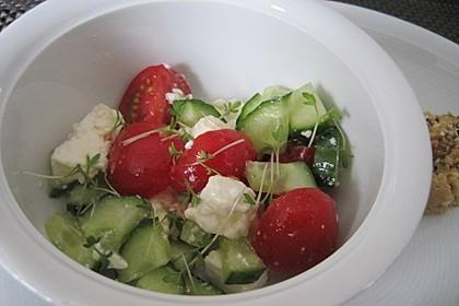 Gurken, Tomaten, Feta Salat 15