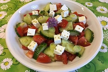 Gurken, Tomaten, Feta Salat