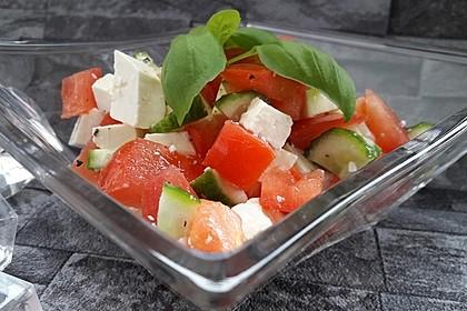 Gurken, Tomaten, Feta Salat 1