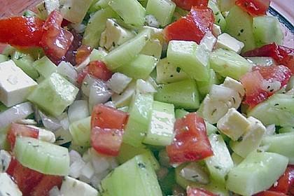 Gurken, Tomaten, Feta Salat 27