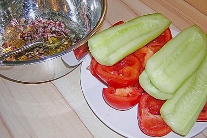 Gurken, Tomaten, Feta Salat 37