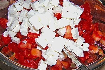 Gurken, Tomaten, Feta Salat 36