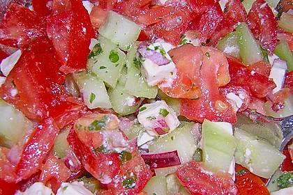 Gurken, Tomaten, Feta Salat 29