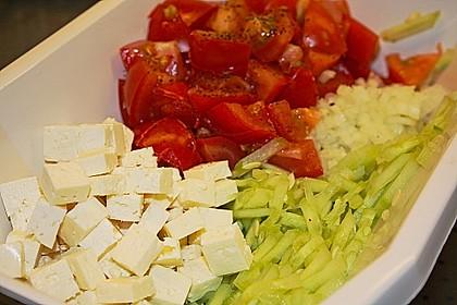 Gurken, Tomaten, Feta Salat 32