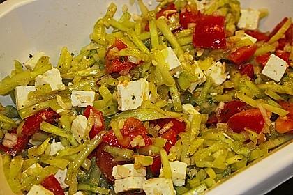 Gurken, Tomaten, Feta Salat 30