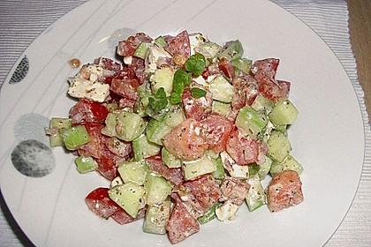 Gurken, Tomaten, Feta Salat 34