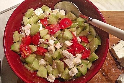 Gurken, Tomaten, Feta Salat 25