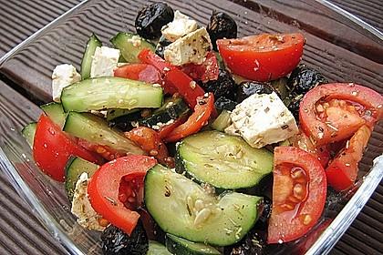 Gurken, Tomaten, Feta Salat 2